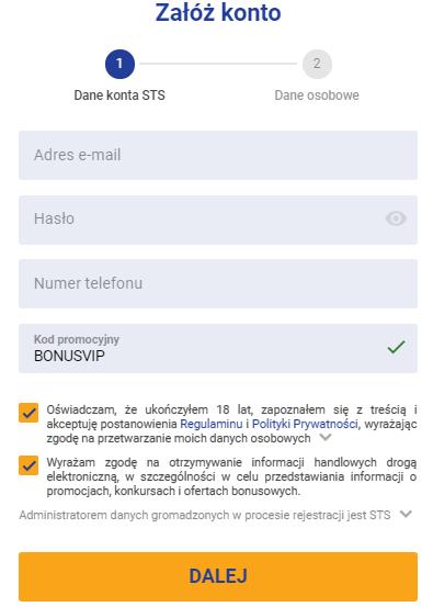 Kod promocyjny BONUSVIP